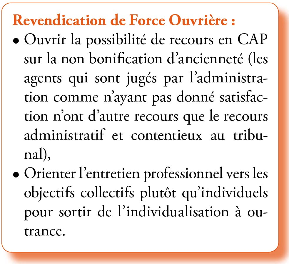 Revendications évaluations